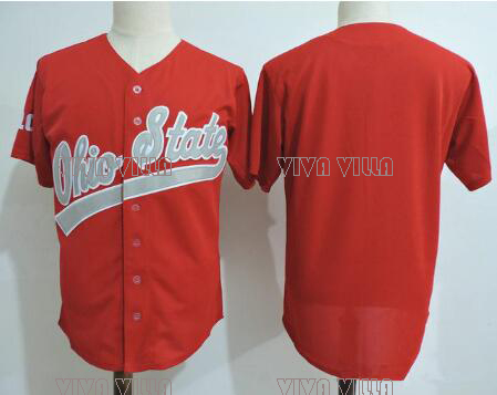 Ohio State Buckeyes Baseball Jersey Stitched Custom Any Name Any Number Men College Baseball Jersey S-4XL Free Shipping custom your own logo design palyer s name and number sublimation print men s football team jersey personality customization