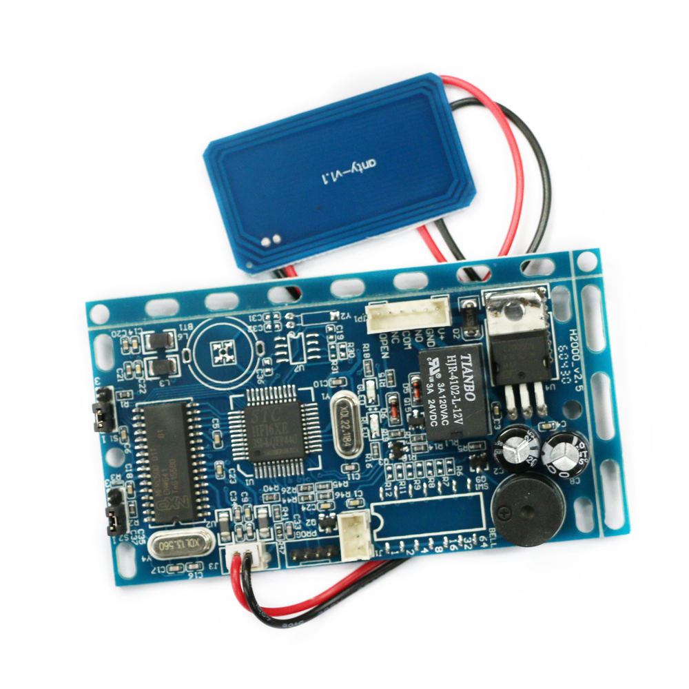 Free shipping 13.56MHZ frequency Embedded RFID board Proximity Door Access Control System intercom module + Infrared handle