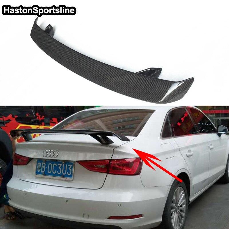 Для Audi A3 S3 RS3 S линии углеродного Волокно автомобиль-Стайлинг задний спойлер багажника крыло