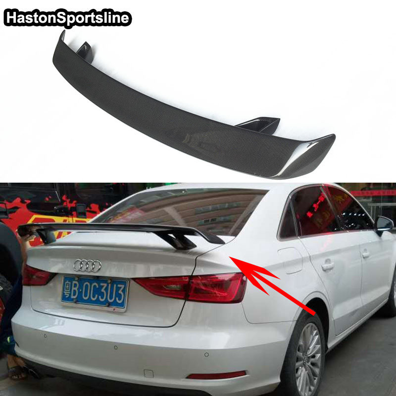 For Audi A3 S3 RS3 S Line Carbon Fiber Car Styling Rear