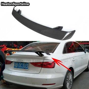 Untuk Audi A3 S3 RS3 S Garis Serat Karbon Mobil-Styling Belakang Trunk Spoiler Wing