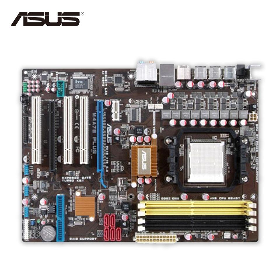 Asus M4A78 PLUS Original Used Desktop Motherboard 770 Socket AM3 DDR2 SATA II USB2.0 ATX asus m4a77td original used desktop motherboard 770 socket am3 ddr3 16gb sata ii usb2 0 atx