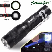 Super 4000LM Zoomable CREE XM L Q5 LED Flashlight 3 Mode Torch Super Bright Light Lamp