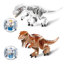 2Pcs/Sets 79151 Jurassic Dinosaur world Figures Tyrannosaurs Rex Building Blocks Compatible With Toys