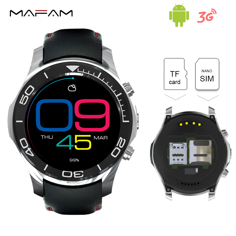 3G TF SIM Card Android 5.1 Smartwatch Phone 512MB 8G 1.3GHz Heart rate monitor Passometer Smart Wrist Watch WiFi GPS S1 Plus smart phone watch 3g 2g wifi zeblaze blitz camera browser heart rate monitoring android 5 1 smart watch gps camera sim card