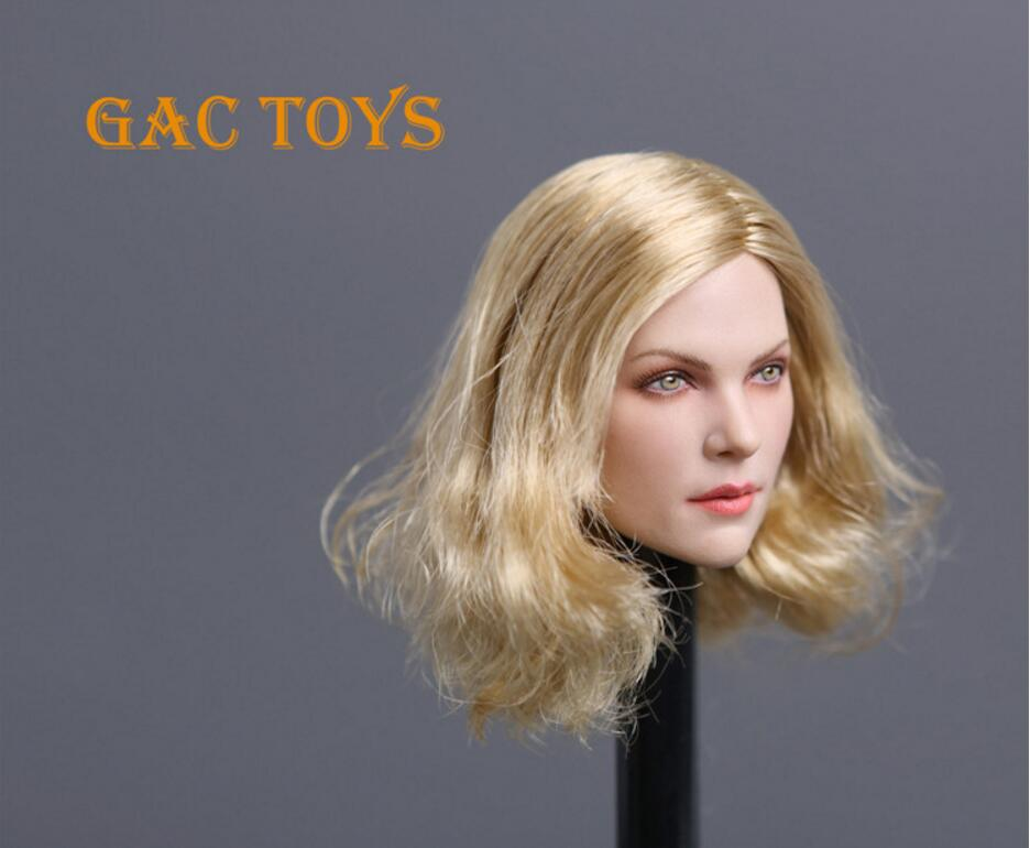 1//6 American European Female Head Sculpt BLONDE For Hot Toys Phicen IN STOCK USA