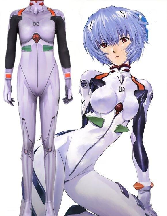 NEON GENESIS EVANGELION Ayanami Rei Cosplay Costumes 3D Printed Zentai Suit Halloween Catsuit