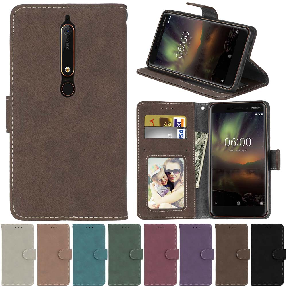 For Nokia 6 2018 Nokia 6.1 Case Flip Phone Leather Cover For Nokia 6.1 2018 For Nokia 6 2018 TA-1068 TA-1043 Case Wallet Covers