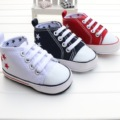 Free Shipping Canvas Baby Shoes Fashion Star Lace-up Infant Newborn Shoes Unisex Baby Toddler Shoes 0-18M First Walkers 2228