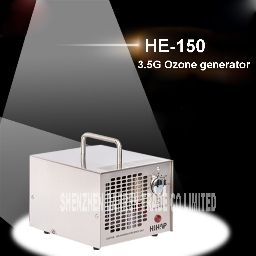 3.5G/H portable air cleaner ozone generator ozone disinfection machine household ozone machine air disinfection machine HE-150 he 141d formaldehyde 7g ozone generator household commerical ozone cleaner air purifying and sterilizing machine