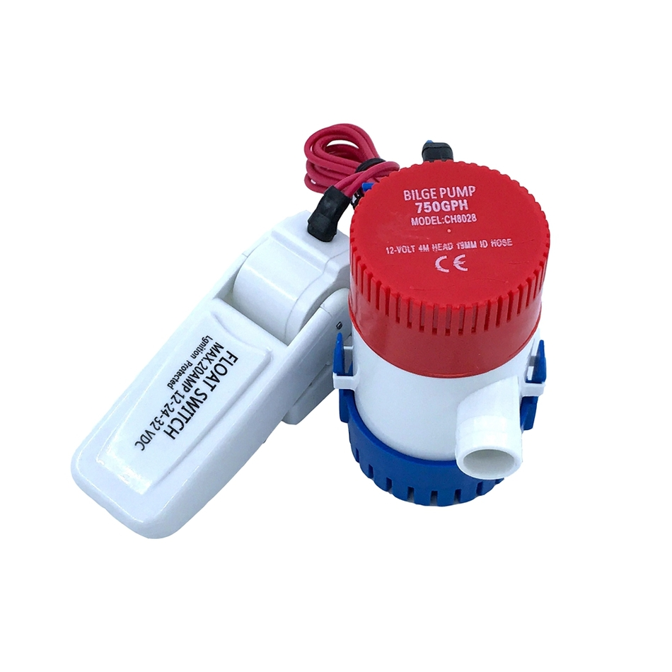 <font><b>Bilge</b></font> Submersible Water <font><b>Pump</b></font> <font><b>12V</b></font> 24V <font><b>750GPH</b></font> Set With Switch Boat Motor Homes Houseboat Aquario Filter Accessories Aquarium image