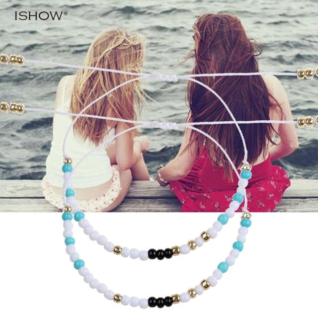 6c1d3e308586 Amistad redondo Beatles pulseras para mujer pulseras par material mini  Cuentas mejores amigos regalos moda joyería