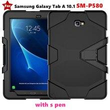 """A6 Amor caja de Servicio Pesado Para Samsung Galaxy Tab 6 10.1 """"S Pen SM-P583 P580 P585 GLF de Silicona Suave + PC de La Contraportada caja de la Tableta"""