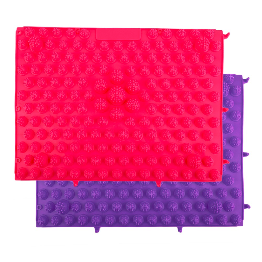 Korean Style Foot Massage Pad TPE  Acupressure Reflexology Mat Acupuncture Rugs Fatigue Relieve Promote Circulation Top Quality povihome foot massage reflexology pads toe pressure plate mat blood circulation shiatsu sports