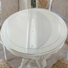 Pvc Tablecloth Soft Glass Table Cover Round Cloth Oil Clear Watherproof Tablecothes Plastic