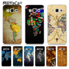 Buy old map design and get free shipping on aliexpress maiyaca old world map painted cover style design phone case for samsung a5 a3 a7 2016 publicscrutiny Images