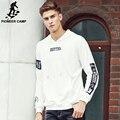 Pioneer camp 2017 otoño primavera sudaderas con capucha suéter con capucha sudaderas con capucha hombres sudadera impresa juran brand clothing blanco 699063