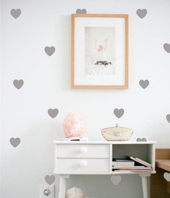 Little Hearts Wall Stickers Removable Home Decoration Art Wall - Wall decals gold