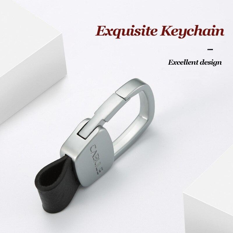 Car Key Smart Wallet Metal Genuine Leather DIY Keys Holder Belt Hanging Wallet For Car Business Gift EDC Housekeeper
