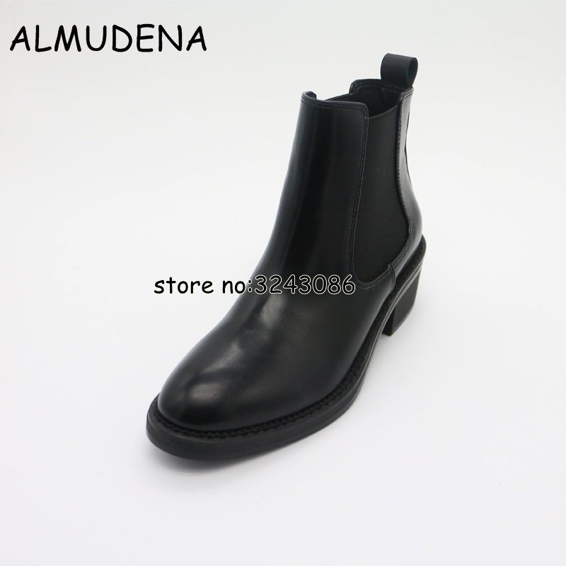 Handmade Chelsea Boots Women Top Quality Genuine Leather Round Toe Lady Ankle Boots Spring Autumn Motorcycle Boots Shoes 2017 xiangban women ankle boots handmade genuine leather woman short boots spring autumn round toe female footwear