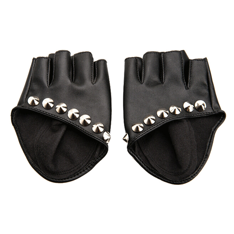 Female Gloves 2017 Fashion Women PU Leather Motorcycle Bike Car Fingerless Performances Gloves Fingerless Gloves For Fitness