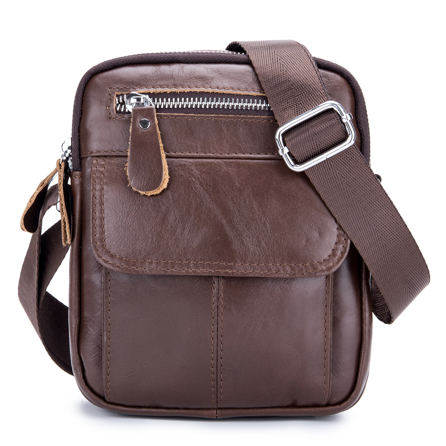 Brand Genuine Leather Small Casual Cross Body Shoulder Bag Men's Cowhide Messenger Bags Travel Track Pack For Cell Phone Wallet brand genuine leather casual small cross body shoulder bag men s messenger bags male cowhide handle pack handbaf for ipad mini