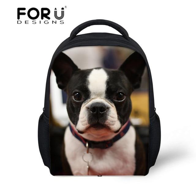 Boston Terrier Puppy Printed School Bag for Kids Baby Cartoon Schoolbag  Children School Backpack Bags Mochila Infantil Bolsas