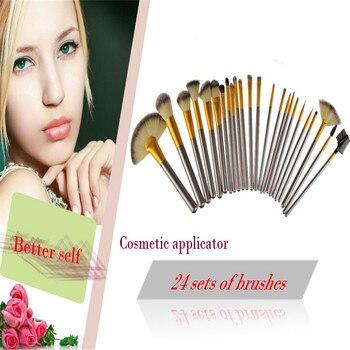 Professional 24 pcs Makeup Brush Set tools Make-up Toiletry Kit Wool Brand Make Up Brush Set Case Cosmetic brush 2 colors