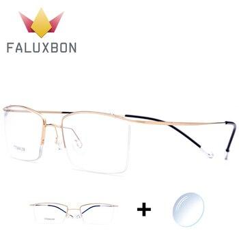 c75362f3fb Óptico titanio gafas de marco de los hombres gafas de 2019 las nuevas  mujeres de diseñador de marca la miopía sin tornillos gafas