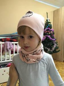 Scarf-Set Hat Spring Autumn Kids Children Girls New Cartoon Owl Cotton Star Swan