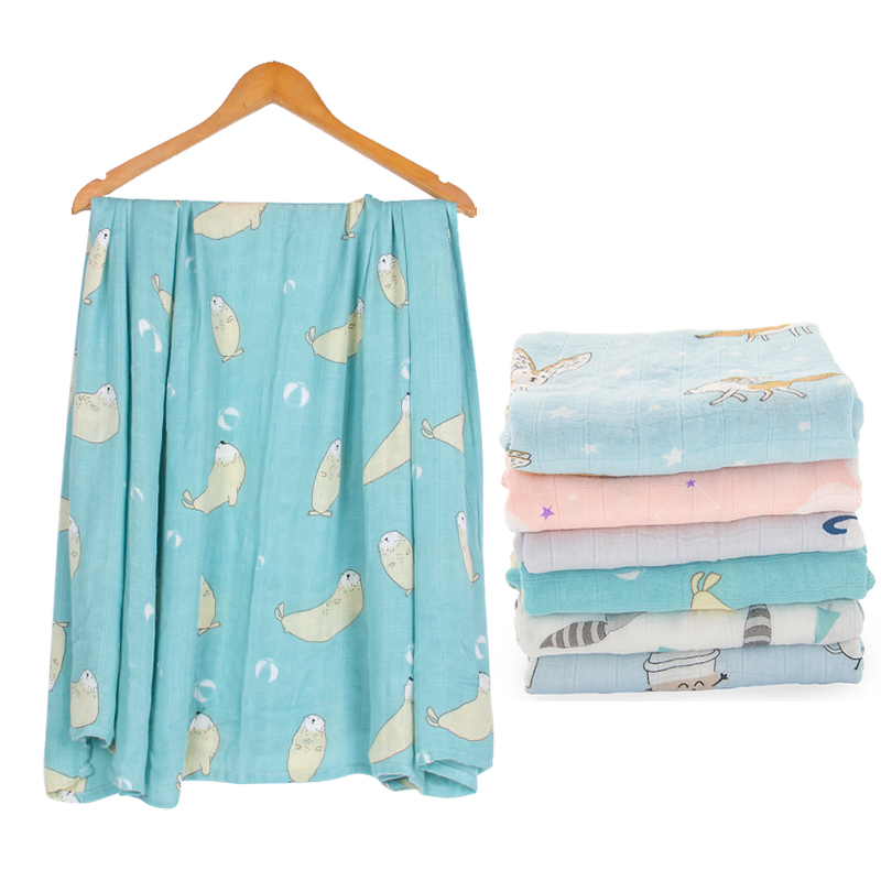 100% Bamboo Fiber Baby Blanket Bamboo Newborn Baby  Soft Baby Blanket Bedding Swaddle Wrap For Newborn Swaddling Bath Towel