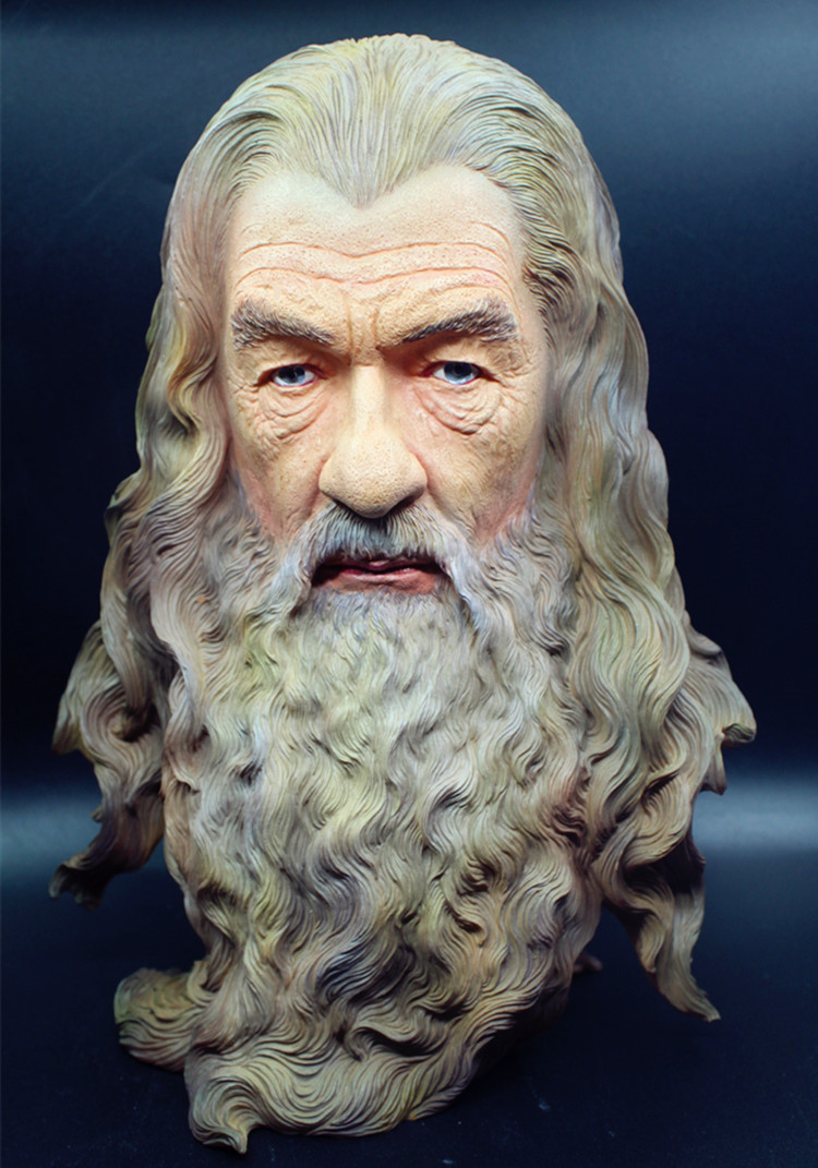 High Quality Rings Hobbit The Gandalf Resin Bust Statue Sculpture Color Painted Figure 39 huge china bronze carved beautifully whirlabout dragon sculpture statue