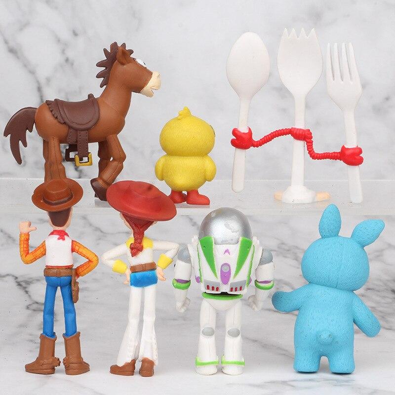 Antecipe o Dia das Crianças e o Natal! Conjunto 7 personagens Buzz Lightyear Woody Jessie Fokry Pato e Coelho Azul sem Caixa 5