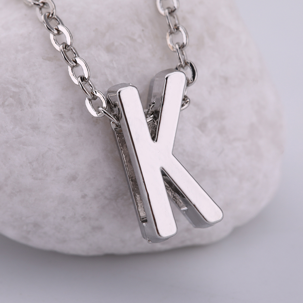 Dawapara 2018 New Fashion Zinc Alloy Silver/Gold Color Letter K Necklace  Jewelry