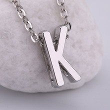 Dawapara 2018 New Fashion Zinc Alloy Silver/Gold Color Letter K Necklace Jewelry(China)