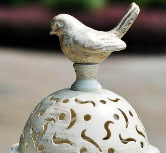 1pcs BirdCage Iron Candlestick Holder Glass Home Decor 4