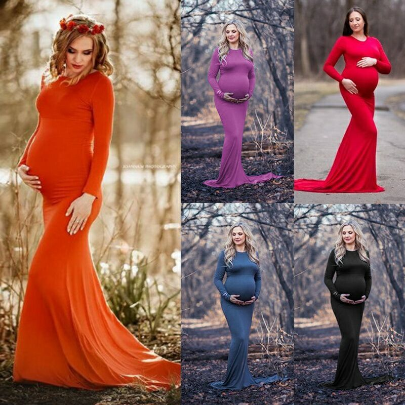 Maternity Dresses For Photo Shoot Maternity Photography Props Pregnancy Dress Photography Maxi Dresses Gown Pregnant Clothes New