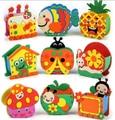 Random styles.Handmade Eva Pen Holder Eva Foam Craft Kits Kids DIY Container for Pens Educational toys for Children