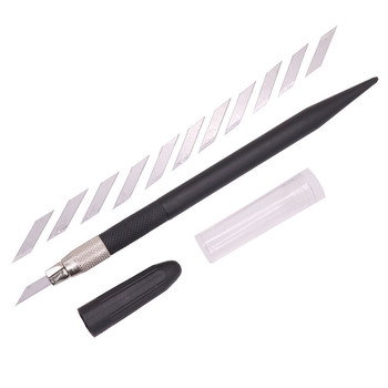 1pcs Black Nine Yang Carving Knife Handle Technology 12 Blade Stainless Steel Cutting Blade Firmly Not Slip cutting tool