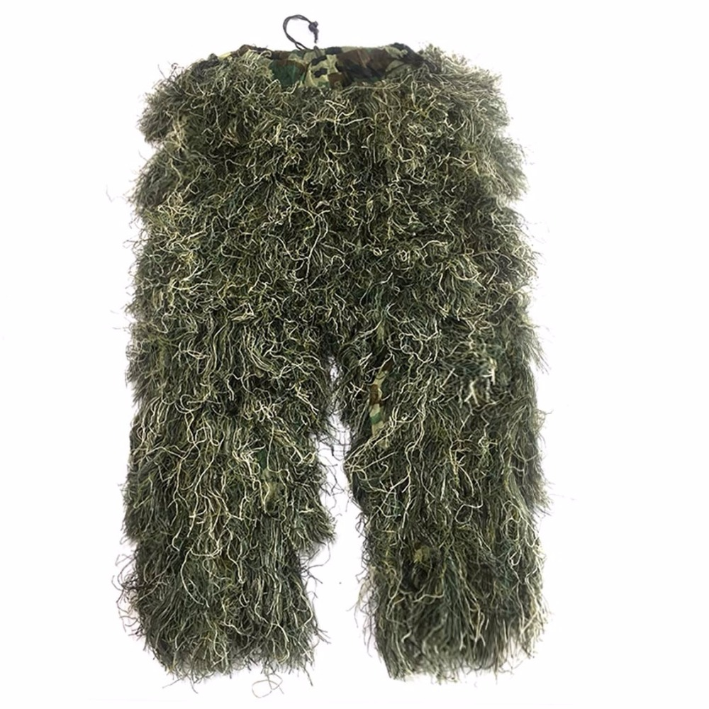 5pcs / set Camouflage Ghillie YOWIE SNIPER Tactical Camo Suit for - Спорттық киім мен керек-жарақтар - фото 4