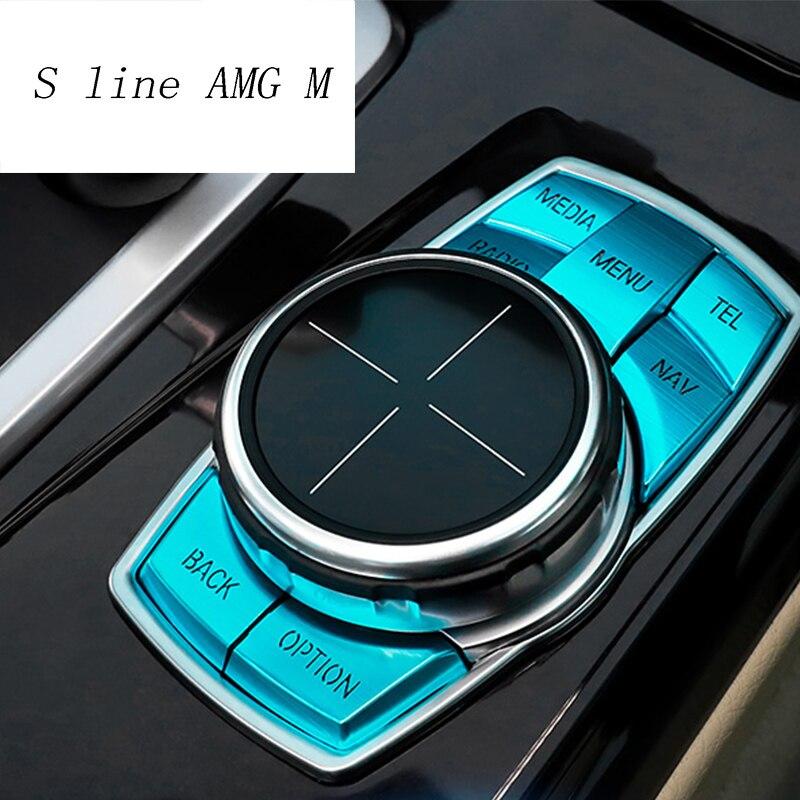 Auto Styling Multimedia Tasten Abdeckung Aufkleber Knob Rahmen Dekoration Für bmw f30 f10 f20 f25 f07 x1 x3 x5 x6 1/2/3/4/5/6/7 serie