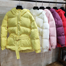 2019 Winter Coat Women Slim Hooded 90% White Duck Down Jacke