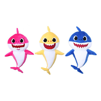 Cartoon Sharks soft Dolls Toys for Girl Children Baby Animal Kid Toys Cute Gift Elastic Environmentally PU brinquedos