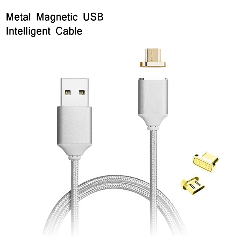 Yelping Magnetic Micro USB Data Cord Nylon Braid Lightning Charging Cable for ZTE Moto OPPO vivo Nubia LG HTC Sony Android Phone