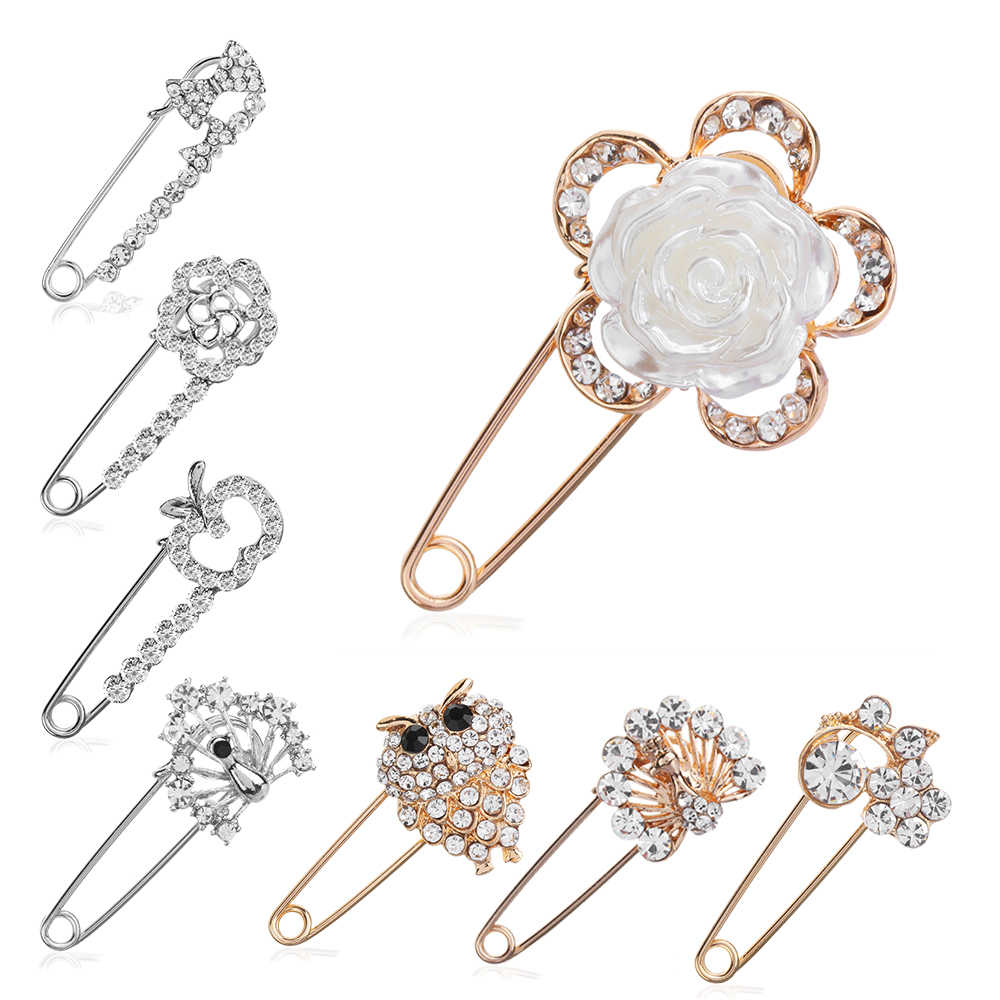 28d43a721 2019 New Arrival 1Pcs Fashion Large Vintage Hijab Pins and Brooches for  Women Animal Pins Brooches
