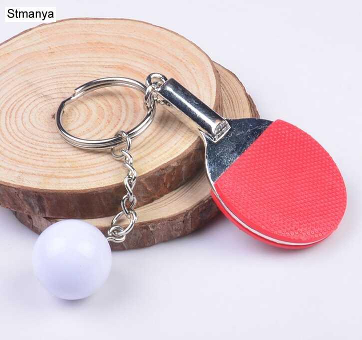 9b68d1558 ... 7 Color Sport Ping Pong Table Tennis Ball Badminton Bowling Ball  Keychain Key Chain Keyring Key ...