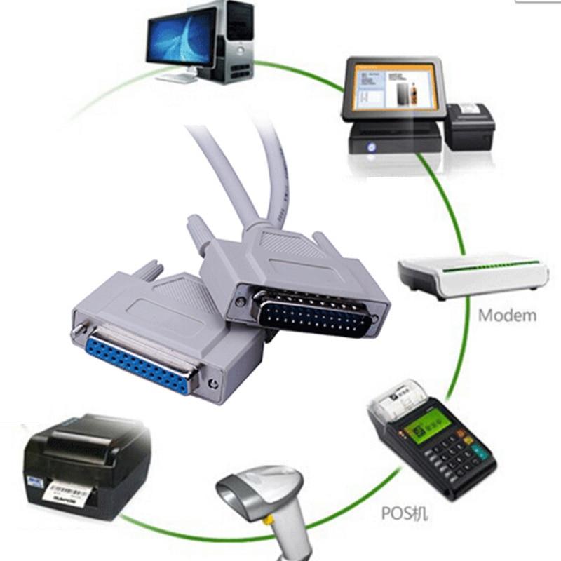 Parallel 25Pin 25-Pin DB25 Male to Female LPT Printer DB25 M-F LPT Cable Connector s0n22 P50 avid db25 xlr m f aes ebu 12