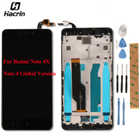 For Xiaomi Redmi Note 4X LCD Display Touch Screen Panel Frame Digitizer Assembly LCD Screen For