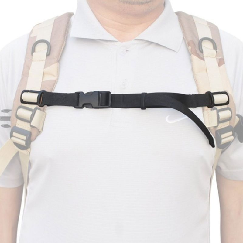 2Pcs/Pair Adjustable Nylon Backpack Chest Harness Strap Webbing Sternum Clip Replacement Anti-Slip Tape With Quick Release Buckl