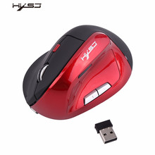 HXSJ X60 Wireless Optical Vertical 2400DPI Gaming Mouse Rechargeable Game Mice For Pro Player